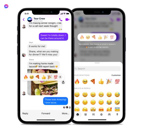 Messenger is now more emoji-friendly. [Credit: Facebook]