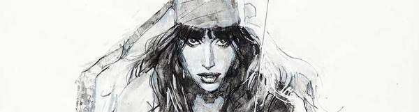Bill Sienkiewicz - Elektra Original Comic Art