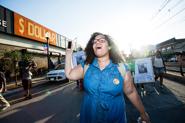Community activist Jazmine Salas was among those celebrating passage of the civilian oversight ordinance.   Sun-Times file