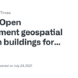 Open government geospatial data on buildings for planning sustainable and resilient cities