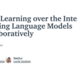 Deep Learning over the Internet: Training Language Models Collaboratively
