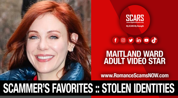 Maitland Ward - Another Stolen Identity Used To Scam Men | Impersonation Victim Galleries