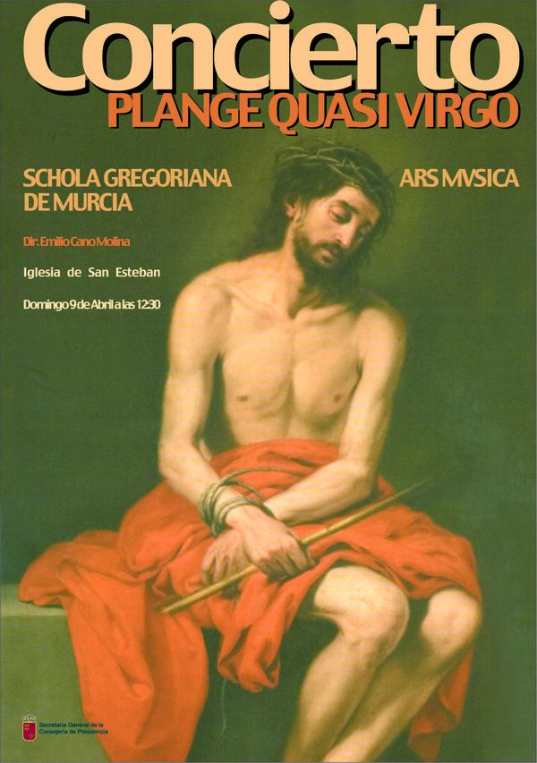 """Cartel del concierto, protagonizado por el """"Ecce homo"""" de Murillo."""