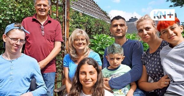 Flüchtlingsfamilie Dawood und Vermieterfamilie Graf aus Henstedt-Ulzburg sind Freunde geworden