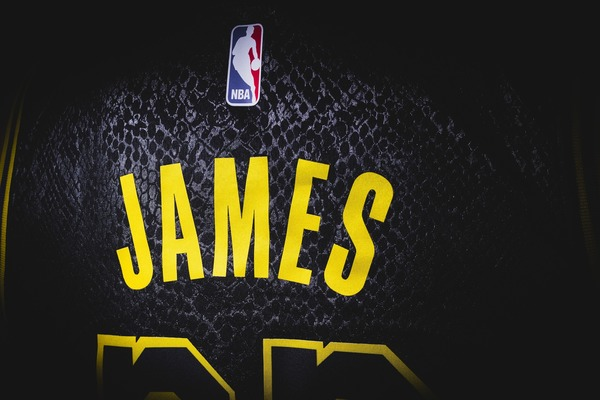 LeBron James's jersey.