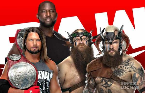 WWE RAW 26 de julio 2021 | Resultados en vivo | AJ Styles y Omos vs. Viking Raiders