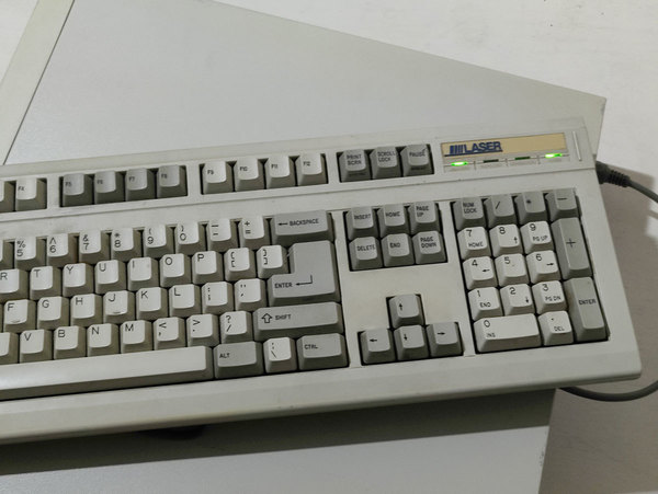 A Laser 2269 plugged into a Laser 386.