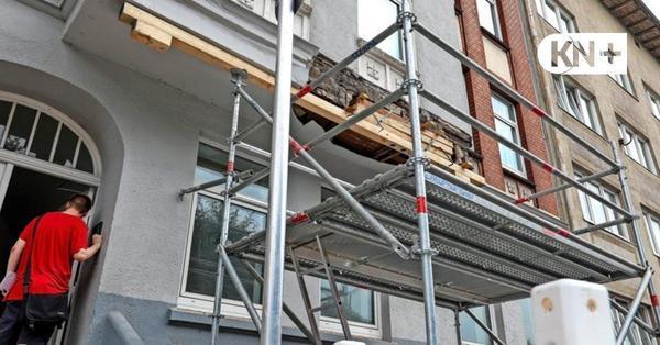 Hausfassade in Kiel bricht ab: So erlebte eine Anwohnerin das Unglück