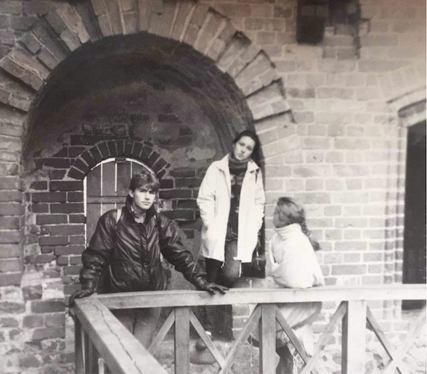 Our author – Depeche Mode style – at Trakai Island castle in Lithuania in September 1991. Photo: private.