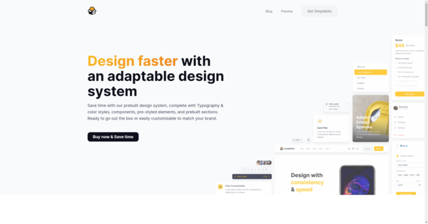 Design faster with an adaptable design system