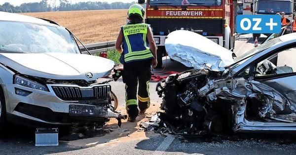 Schwerer Unfall auf B111 bei Ranzin: Zwölf Personen teils schwer verletzt – kilometerlanger Stau