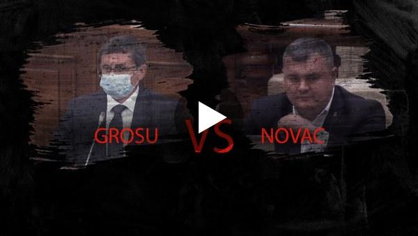 Schimb de replici intre Grosu si Novac: Ma tem sa nu veniti intr-o zi in rochie la Parlament