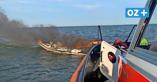 Motorboot brennt vor Mönkebude aus: So kam es zum Unglück – mit Bildergalerie und Video