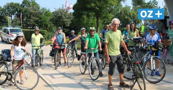 Insel Usedom: Fahrrad-Demo gegen Containerhafen