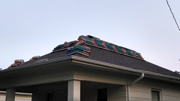 New shingles on the old roof