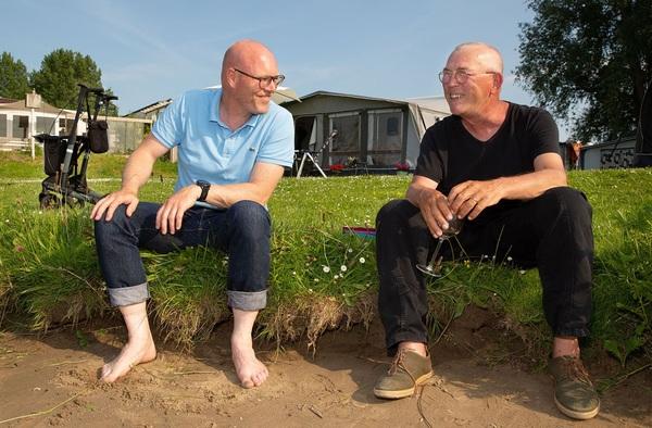Toine (l) en Henk. Foto: Tjitske Sluis.