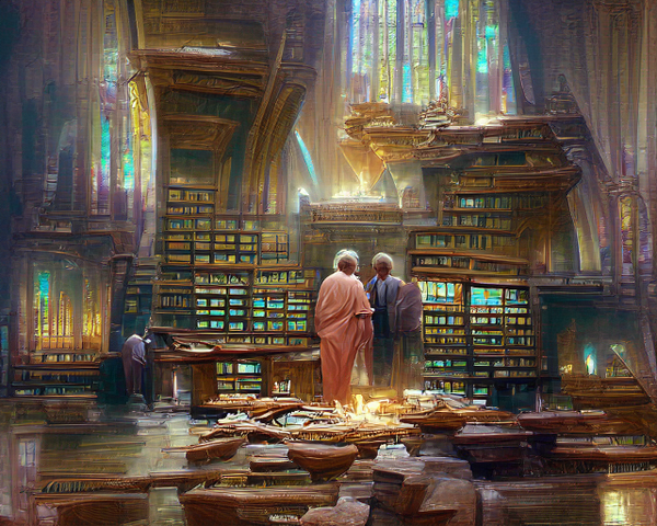 """""""Tour of the Sacred Library"""" by Ryan Moulton"""