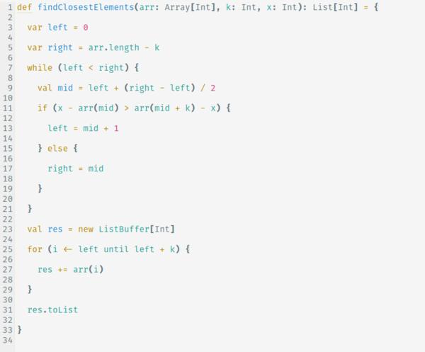 Độ phức tạp thời gian của giải thuật này là O(log(N-k) + k)