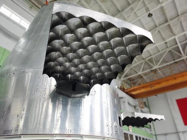 Hyperbola-2 rocket grid fin control surfaces
