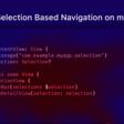 List Selection Based Navigation On MacOS