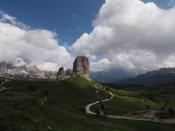 "A shot of ""Cinque Torri"" (five towers) near Cortina d'Ampezzo (Italy)"