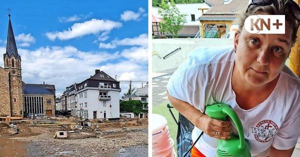 DRK-Helferin Sabine Hopp aus Kaltenkirchen berichtet von ihrem Einsatz für Flutopfer in Rheinland-Pfalz
