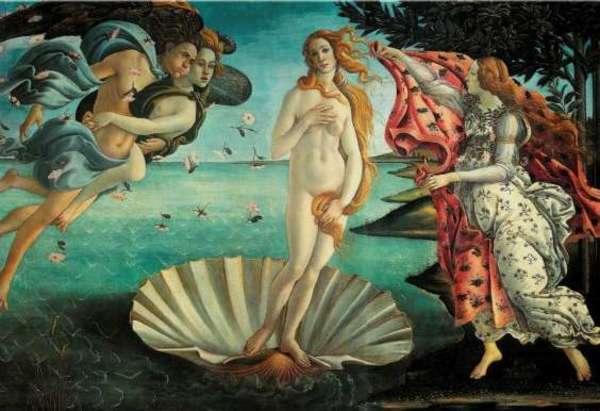 The Birth of Venus, Sandro Botticelli, circa mid 1480s.