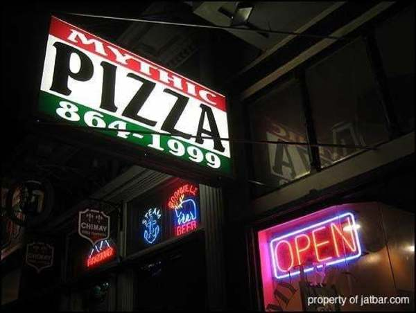 """I can't remember if it was called """"Mythic Pizza"""" in 2011, but this was the spot."""