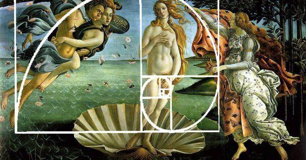 Botticelli 's The Birth of Venus illustrating the Golden Ratio.