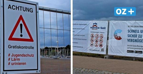 Hanse Sail 2021 in Rostock: Aufbauarbeiten am Stadthafen haben begonnen