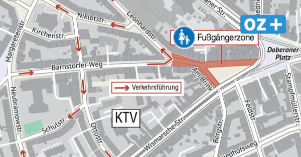 Neue Fußgängerzone ab Montag in Rostock: Darum kritisieren Anwohner das Projekt in der KTV