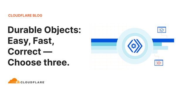 Durable Objects: Easy, Fast, Correct — Choose three.