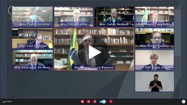 Discurso completo do ministro Barroso na abertura da Sessão Plenária do TSE