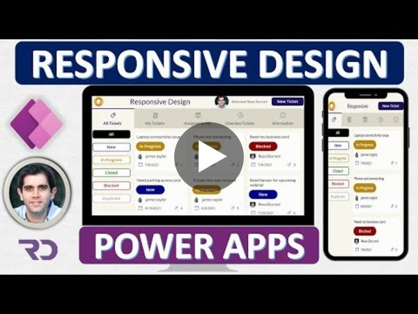 How to build Responsive Power Apps | Responsive Layouts, Tabs, Galleries & Forms