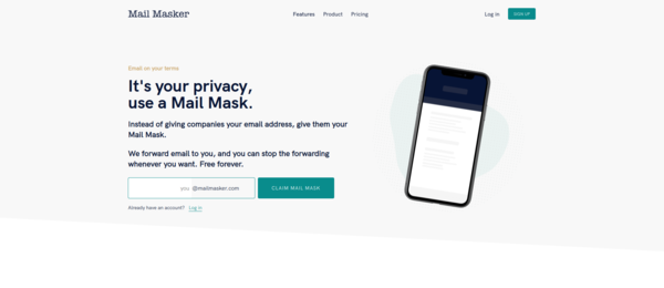 Instead of giving companies your email address, give them your mail mask