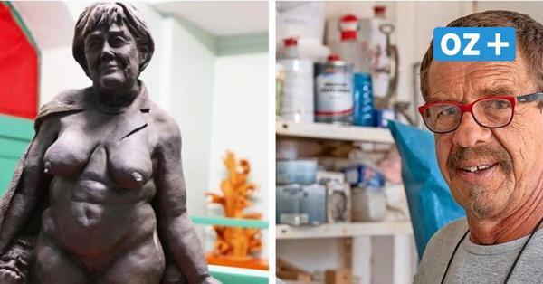 """Künstler aus MV provoziert mit nackter """"Merkel-Skulptur"""" – und erlebt nun einen Shitstorm"""