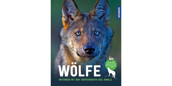 """Cover des Buches """"Wölfe – Unterwegs mit dem Tierfotografen Axel Gomille"""", erschienen bei Kosmos"""