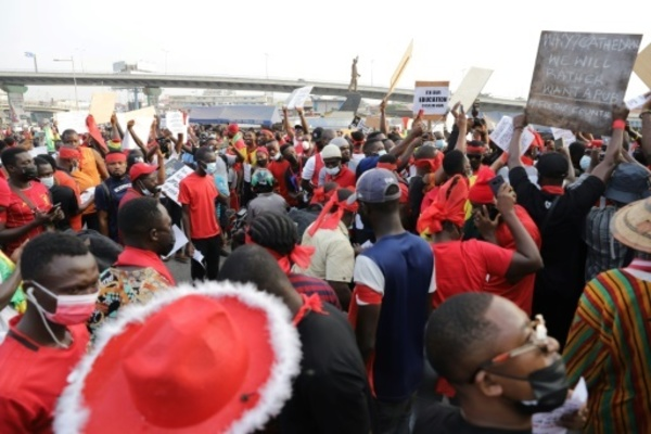 Ghana's #FixTheCountry protesters take to streets