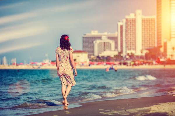 Am Strand von Tel Aviv