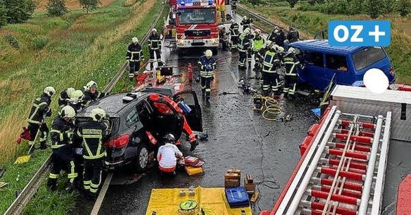 """Unfall bei Ribnitz mit zehn Verletzten: """"Da haben sich dramatische Szenen abgespielt!"""""""