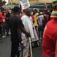 76-year-old man with walking stick joins #FixTheCountry protest