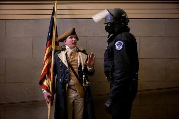 Missouri insurrectionist known for wearing George Washington costume arrested