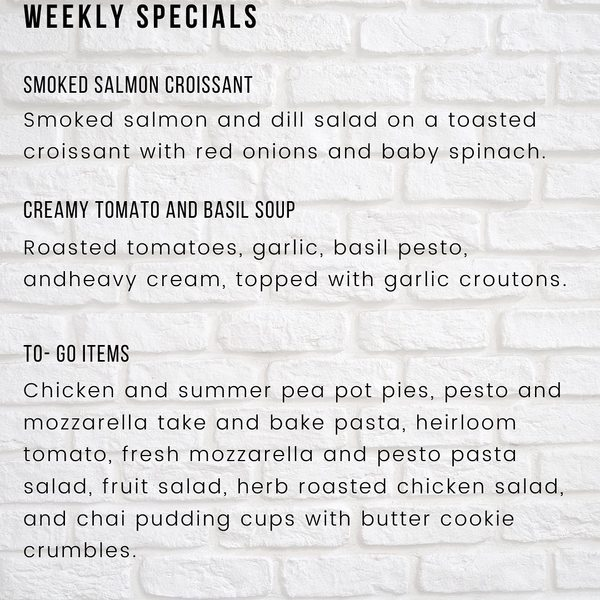 Born and Raised Market this week Specials!