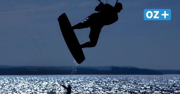 Insel Ummanz: Kite-Surfer verliert Kontrolle über seinen Schirm und beschädigt Auto