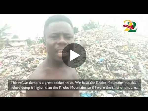 Residents of Okornya community 'forced' to live with 'mountain of rubbish'