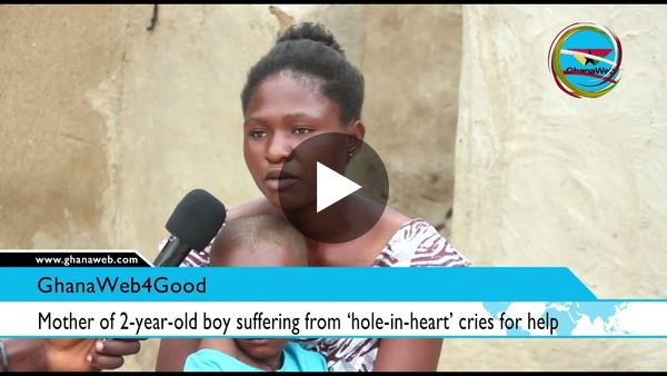 Paga-Nania: Mother of 2-year-old boy suffering from 'Hole in heart' cries for help