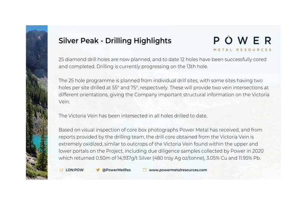 Power Metal (POW.L) Canadian Silver Project – Exploration Update