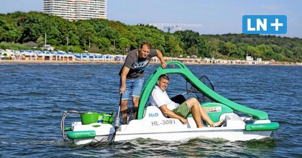 Neue Aktion in Timmendorf: So werden Tretbootfahrer zu Müllfischern