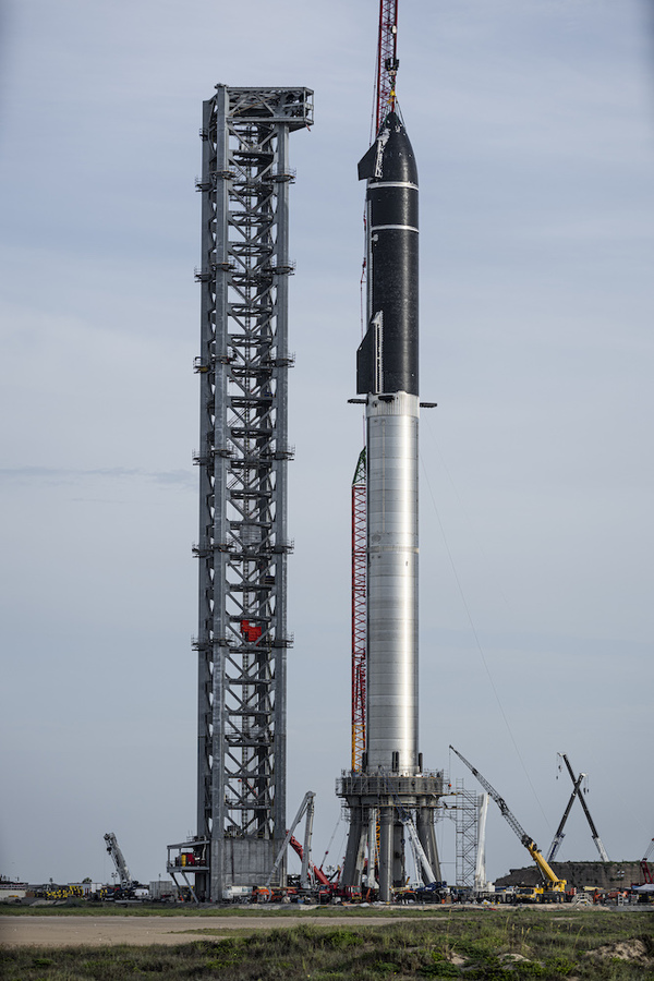 Starship on the orbital launch pad ©Spacex via Twitter