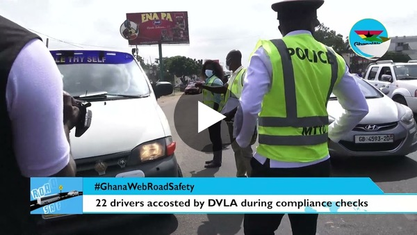 #GhanaWebRoadSafety: These drivers were accosted by DVLA at Awudome during checks